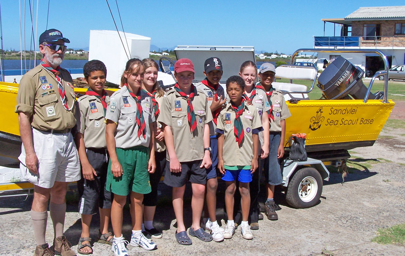 1st Paarl Scouts at the Sea Scout base